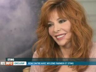 Interview de Mylène, Martin Kierszenbaum et Sting à la télévision belge