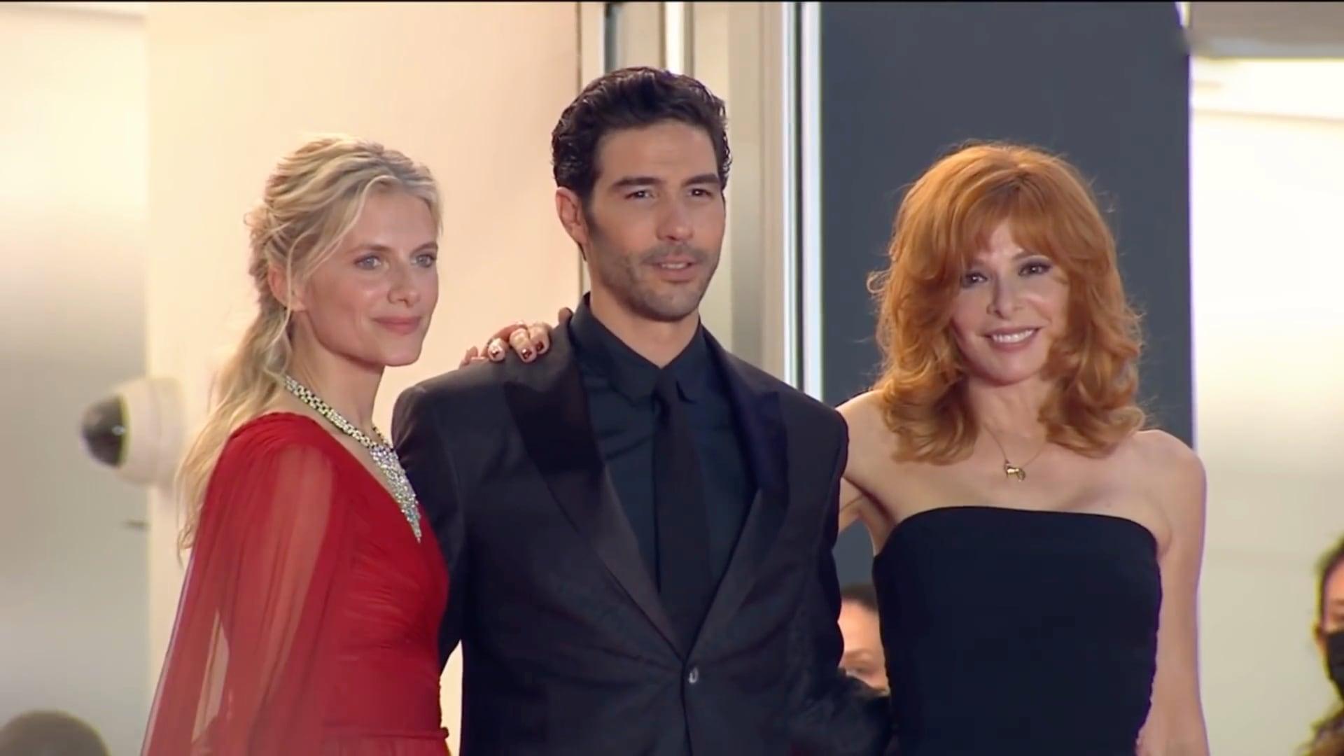 Mylène Farmer avec Tahar Rahim et Mélanie Laurent à Cannes